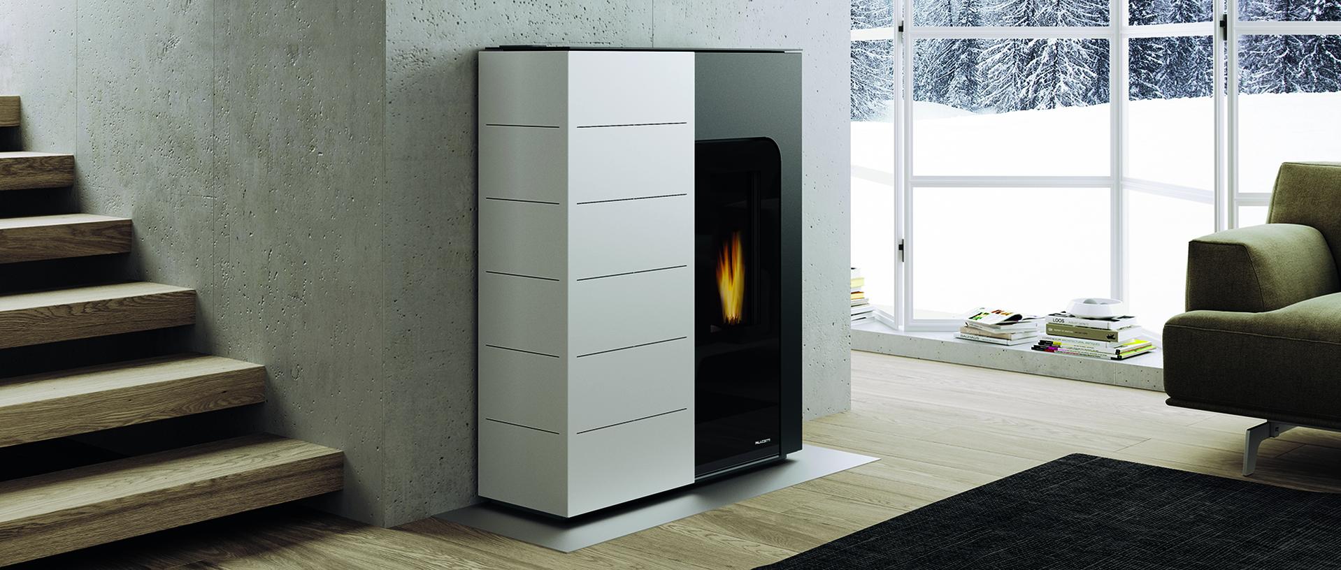 Pelletkaminofen für gemütlich Wärme im Wohnzimmer