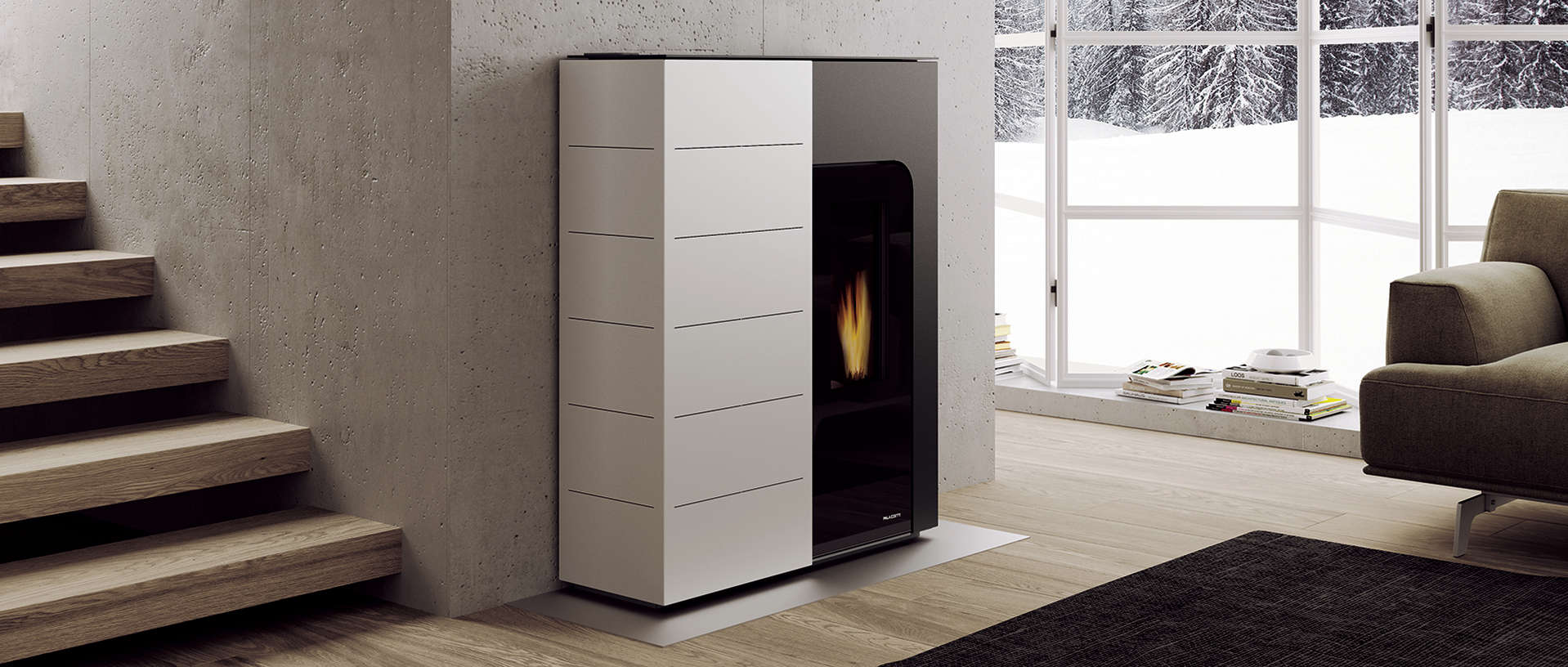 Wood Pellet Central Heating Stove